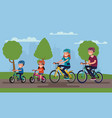 active family vacation father mother son vector image vector image