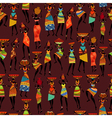 africa girl seamless vector image