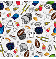 american football seamless pattern all about vector image