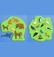 animals banner set cartoon style vector image vector image