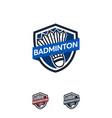 badminton sport logo designs badge template