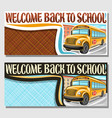 banners for school bus vector image vector image