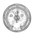 barometer sketch engraving vector image