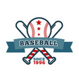 baseball isolated icon bat and ball sport items vector image