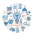 blue business idea lamp concept vector image vector image