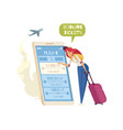 booking tickets composition vector image