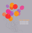 bunch of birthday balloons with space for text vector image vector image