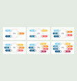 business infographic organization chart with 3 4 vector image vector image
