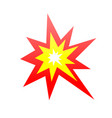 collision symbol an angular burst orange and vector image vector image