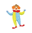 Colorful Friendly Clown In Derby Hat And Classic vector image vector image