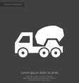 concrete mixer premium icon white on dark backgrou vector image
