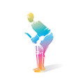 cricket player hit shot design vector image vector image