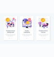 cryptocurrency trading app interface template vector image vector image