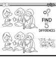 differences activity for coloring vector image vector image