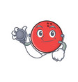 Doctor bowling ball character cartoon vector image
