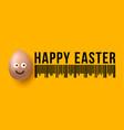 easter sale concept bar code realistic emoji vector image vector image