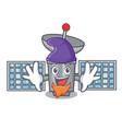 elf satelite character cartoon style vector image vector image