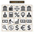 finance and business icons set on white background vector image