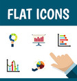 flat icon chart set of pie bar infographic chart vector image vector image