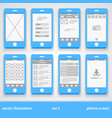 flat phone screen set 2 vector image vector image