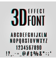 font stereoscopic 3d effect vector image