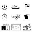 football outline icon vector image