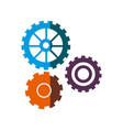 gear work mechanical cooperation shadow vector image vector image