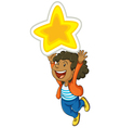 Girl and star vector image vector image