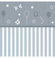 girlish frame in grey vector image