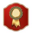 Golden vintage template-emblem and heraldry vector image