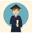 Graduate student cartoon vector image