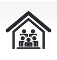 guests house icon vector image vector image