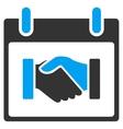 Handshake Calendar Day Toolbar Icon vector image vector image