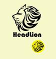 head lion logo vector image vector image