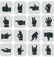 human hand collection different hands gestures vector image vector image