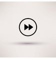 Icon of rewind Web Isolated vector image vector image