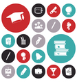 icons for education and science vector image vector image