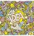 Idea hand lettering and doodles elements vector image