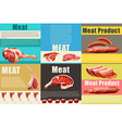 Infographic with different kind of meat vector image vector image