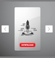 launch publish app shuttle space glyph icon in vector image