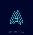 letter circuit template vector image
