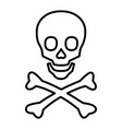 line skull icon vector image vector image