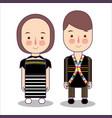 malaysia rungus sabah bride and groom cartoon vector image