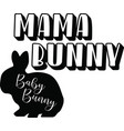 mama bunny on white background vector image vector image