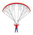 Man with a paraglider vector image vector image