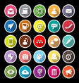 Message and email flat icons with long shadow vector image vector image