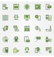 Mobile banking green icons vector image vector image