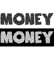 Money typography made of currency symbols vector image vector image