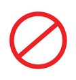 no sign stop icon blank ban vector image