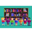 Other Children Read Books in Library vector image vector image